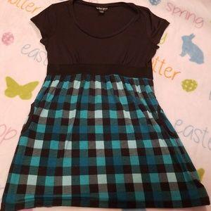 Black and blue plaid super soft  dress size Large